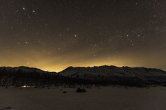 Night view of winter camping (Yu Takada) Tags: winter alaska mountain snow ice sky star camp tree