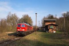 Hoppenrade (Nils Wieske) Tags: mecklenburgvorpommern baureihe 232 ludmilla db cargo güterzug bahnhof bahn eisenbahn train railway railroad