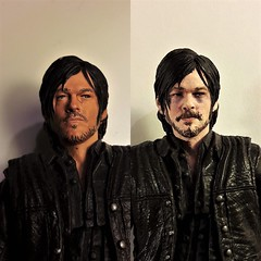 Daryl before & after (Nagualini) Tags: walkingdead daryl daryldixon beforeafter repaint custom customfigure 112 miniature mcfarlane actionfigure