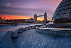 Tower Bridge at Sunrise 🌅 (Frederick Bancale) Tags: cityhalllondon travel unitedkingdom uk greatbritain goldenhour sunrise architecture london towerbridge