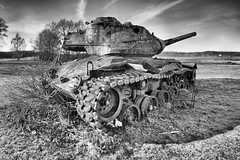 M47 Patton (ChristianMandel) Tags: bokehpanorama brenizermethod tank panzer m47patton delmenhorst grosehöhe monochrome blackandwhite bw ilce7iii sonya7iii sel85f18 hugin mercatorprojection