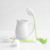 A Hint of Spring (njk1951) Tags: tulip whiteonwhite whitetulips spring green yellow squareformat white pitcher hintofspring stilllife