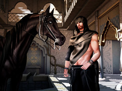 Arabian (Varosh Santanamiguel) Tags: jinx posesion bento mesh slink male men arabia arabian mod waterhorse ~wh~ birdy gacha rare oriental desert flow gild assassin secondlife sl seconlife blog fashion new release event man boy warrior horse riding profect dream sultan gaeg sahara building roleplay rollenspiel german areiyon vsm