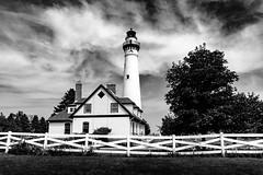 2019-067/365 Wind Point Lighthouse (Sharky.pics) Tags: 2018 lighthouse unitedstatesofamerica monochrome windpointlighthouse windpoint august racinecounty lake summer wisconsin usa unitedstates us