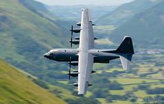 Lockheed MC130 Hercules (Steve Moore-Vale) Tags: 35786 corriscorner usaf hercules machloop mc130 aeroplane cargo usafe military lowlevel aviation