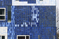Blue Building and Tree (YIP2) Tags: window windows facade blue abstract minimal minimalism simple less line linea detail pattern diagonal geometry design architecture building repetition reflection urban urbandetail geometric graphical uithof utrecht