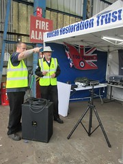 VRT volunteers Steph Fry and Kevin Packard with the PA System at VRT HQ, Southend Airport 17.06.18 (Trevor Bruford) Tags: vrt vulcan restoration trust xl426 southend airport avro nuclear bomber cold war plane jet aircraft airplane aviation raf tin triangle delta lady royal air force volunteers