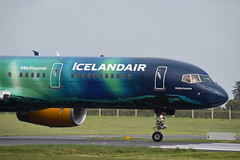 Hekla Aurora (eigjb) Tags: jet transport airliner dublin airport international collinstown eidw ireland aircraft airplane plane spotting aeroplane aviation 2019 tffiu boeing 757256 b757 757 icelandiar hekla aurora livery special colours fi417 nose