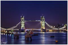 Tower Bridge in Blue Hours (PixelRange) Tags: lights reflection cityscape towerbridge bluehours london river thamesriver water nikon nikond7000 nikon18300mm sanjaykrsxena longexposure
