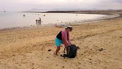 Lobos island (piotr_szymanek) Tags: marzka woman milf face eyesoncamera glasses sunglasses hat beach sand water sea ocean bay lobos shorts landscape people sky boat sail mountains 1k 5k 10k outdoor 20f