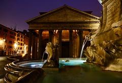 "The Pantheon: ""M•AGRIPPA•L•F•COS•TERTIUM•FECIT"" (joanne clifford) Tags: fontanadipiazzadellarotonda fontanadelpantheon piazzadellarotonda giacomodellaporta fujifilmxt3 bluehour architecture emperorhadrian architect romangods temple marcusagrippa fountainofthepantheon 3rdrione thepantheon rome italy"