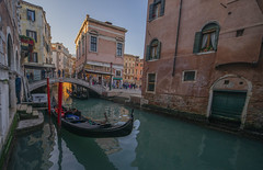 Venice gondola (y.mihov, Big Thanks for more than a million views) Tags: venice venezia gondola boat canal trespass travel tourist town italy islands isle sonyalpha sightseeing skyes sea street stone water wealth winter wide window day door detail bricks bridge europe
