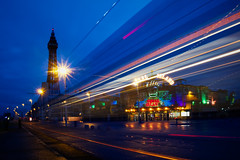 Blackpool (nickcoates74) Tags: 1650mm a6300 beach blackpool blackpooltower bluehour coast coralisland fylde ilce6300 lancashire lighttrails morning seaside sel1650 sony tower uk