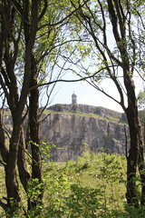 Crich stand through the trees (jpotto) Tags: uk derbyshire crich crichtramwaymuseum crichstand sherwoodforresters structure building quarry ambervalley eastmidlands