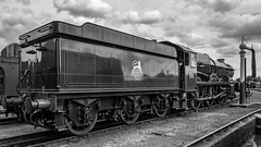 6023 Didcot GWS 27 July 2014 (69)-2 (BaggieWeave) Tags: didcot gwr greatwesternrailway gws oxfordshire uk king kingedwardii 460 blackandwhite bw steamengine steamlocomotive steam