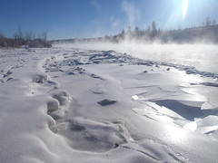 Bow River Valley Deep Freeze (Mr. Happy Face - Peace :)) Tags: snow art2019 fog winter ice cloud sun sky albertabound cans2s hiking outdoors yyc