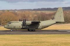 ZH889 C-130J Hercules C5 RAF Prestwick 20.02.18 (Robert Banks 1) Tags: zh889 889 lockhed c130j c30j hercules c5 raf royal air force prestwick egpk pik