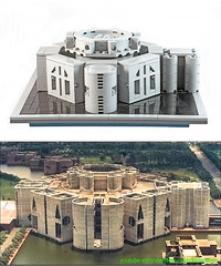 Comparison-West-Face (jj.lego) Tags: bangladesh parliament lego louiskahn brutalism