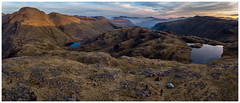 Sunrise Over Camp, The Lake District (dandraw) Tags: sunrise wildcamp wildcamping greatgable greengable thelakes thelakedistrict cumbria outdoors adventure sprinklingtarn styheadtarn blencathra skiddaw mountains sunlight panoramic pano panorama tents scarp1 tarptent drone dji mavicair mavic aerialphotography landscape