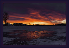 winter sunset over Saginaw River last January (TAC.Photography) Tags: saginawriver frozen frozenriver red redsky tomclarknet tacphotography