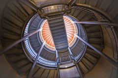 Spiral gyral (sniggie) Tags: circles kentucky theparklandsoffloydsfork silo architecture roof geometric lines rotunda ceiling farmsilo stairway fisheye brownformansilo skylight overlook