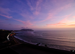Sunset in Lima, Peru (` Toshio ') Tags: toshio lima peru miraflores sunset southamerica beach coast coastline waves pacific pacificocean clouds highway fujixt2 xt2