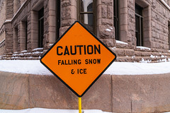 Caution - Falling Snow and Ice - Minneapolis City Hall (Tony Webster) Tags: 350s5thst cityhall minneapolis minneapoliscityhall minnesota caution cautionsign downtown fallingice fallingsnow fallingsnowandice sign snow warning winter unitedstatesofamerica us
