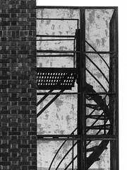 Escalier - Montréal (obousquet) Tags: escalier stairs ruelle bw noiretblanc blackandwhite streetphotography graphic