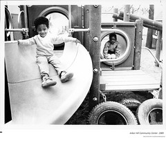 1989  Day care center Arbor Hill community center  playgorund  Noth Lark st. (albany group archive) Tags: 1980s old albany ny vintage photos picture photo photograph history historic historical