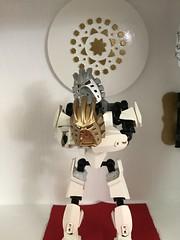 Takanuva Returns. part 4 (ArmoredToa) Tags: lego bionicle takanuva moc revamp repaint light warrior gold silver kanohi avohkii