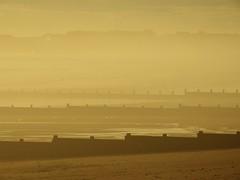 Blyth Beach - Sea Haar Sunrise (Gilli8888) Tags: northumberland harbour port sea northsea seaside northeast coast coastline eastcoast sunrise fret haar groynes seascape beach sand monochrome
