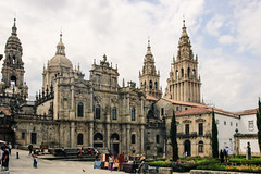 Cathedral of Santiago de Compostela (Yuri Dedulin) Tags: architecture culture eu europe landscape oldcity santiagodecompostela spain travel vigo yuridedulin tourism day trip coruña attraction sights landmarks magnificent quiet cultural monument cathedral santiago compostela camino roman catholic archdiocese wrld heritage site galicia gothic romanesque baroque neoclassical saint james amazing pilgrim pilgrimage route 2018 yuri dedulin building sky