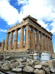 the city high (citizensunshine) Tags: ελλάδα αθήνα αιγαίο greece athens aegean aegeansea acropolis parthenon columns ruins ruin temple greek παρθενώνασ column