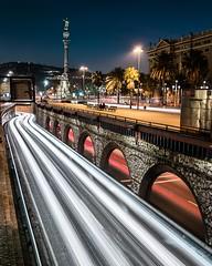 Barcelona is dynamic (Ramon InMar) Tags: lighttrails barcelona night nit colon cityscape city urban paisajeurbano paisatgeurba urbana longexposure largaexposicion