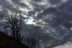 A Hole in the Sky (Tom Gill.) Tags: clouds overcast silhouette dune michigan sanddune vanburen statepark