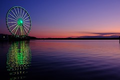 Sunset in the Harbor (glopater) Tags: sunset harbor ferris wheel maryland national fujifilm xt3