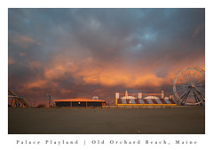Sunrise at Palace Playland (shara.marquis) Tags: oldorchardbeach maine ocean sunrise beach ferriswheel palaceplayland
