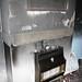 Fireplace fire damage stock photo