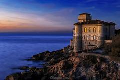 Tramonto al Castello / Sunset at the Castle (Eugenio GV Costa) Tags: livorno tramonto castles castello mare scogli sunset water sky cielo blue outside