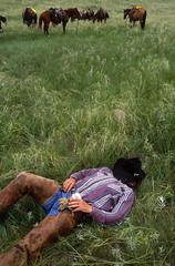 Cowboy Nap (JC Richardson) Tags: greatplains midwest prairie plains ranch cowboy nap sleep hat nebraska sandhills
