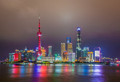 A small world after all (aurlien.leroch) Tags: china chine shanghai pudong bund night nikon cityscape shanghaitower skyline skyscrapers