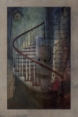 Stairway to the id (jimlaskowicz) Tags: jimlaskowicz abstract dreamstate dream freudian artistic impressionistic painterly dark whimsical art mystery surreal mind stairway id