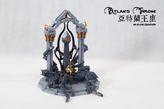 Atlan's-Throne05 (BrickElviN) Tags: lego moc dc aquaman castle ruin throne trident