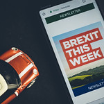 Mobile phone showing text Brexit this week thumbnail
