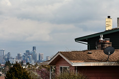 Early Spring Seattle Views 11 (C.M. Keiner) Tags: seattle washington usa city cityscape skyline mountains pacific northwest puget sound spring trees blossoms urban magnolia streetscape cherry