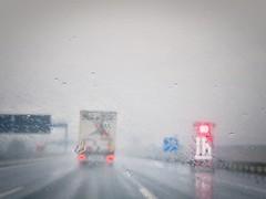 Highway to heaven or hell (Maquarius) Tags: autobahn lkw regen scheibenwischer sichtbehinderung baustelle würzburg mainfranken unterfranken franken