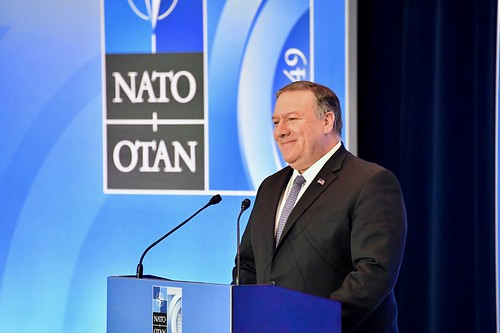 Secretary Pompeo Delivers Remarks at a Press Conference at the NATO Ministerial, From FlickrPhotos