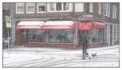 Snow in Amsterdam (karl2029) Tags: amsterdam sneeuw snow jordaan nol cafenol