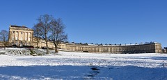 Royal Crescent, Bath (Nige H (Thanks for 15m views)) Tags: landscape nature architecture crescent royalcrescent bath historic winter snow sky bluesky england somerset