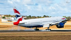British Airways | G-VIIV | Boeing 777-236ER | BGI (Terris Scott Photography) Tags: aircraft airplane aviation plane spotting nikon d750 tamron 70200mm f28 di vc usd g2 travel barbados jet jetliner british airways 777 200 london